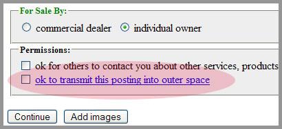 craigslist space