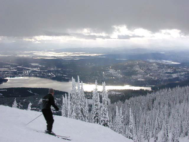 Skier on Big Mountain